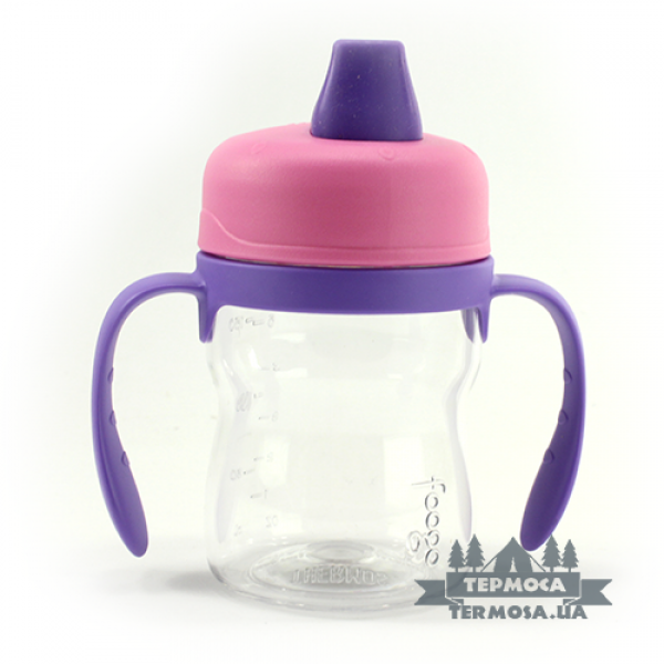 Бутылочка Thermos Pink Foogo Plastic Soft Spout Sippy Cup 0,2L (130)