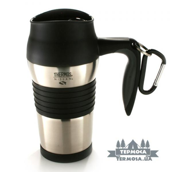 Термокружка Thermos Travel Mug with Carabiner 0,4L - Stainless (081)