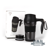 Термокружка Thermos Travel Mug with Carabiner 0,4L - Grey (080)